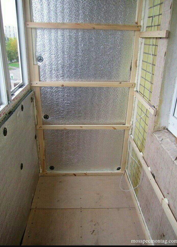 Материалы для утепления балкона.