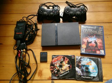 Sony ps 2  slim (čita originale) +sony ps 1 gratis ,3 video igrice za  - Kraljevo