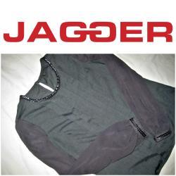 Ika-bluza-jaknica-italijanskog-brenda-biaggini - Srbija: *** JAGGER *** siva svecana bluza S Prelepa bluza brenda JAGGER.Siva
