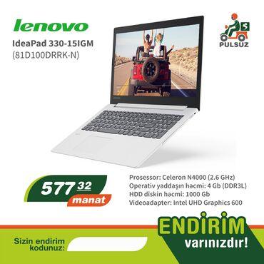 notebook fiyatlari teknosa - Azərbaycan: Lenovo notebook-u 577.32 AZN