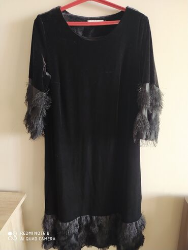 Шикарное бархатное платье одевали один раз размер 54