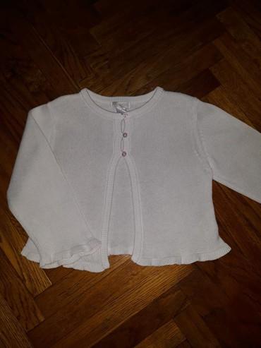 Snezno bela - Srbija: Obaibi dzemper, kardigan 1-2 godine. Praktican dzemperic, nosen, ali