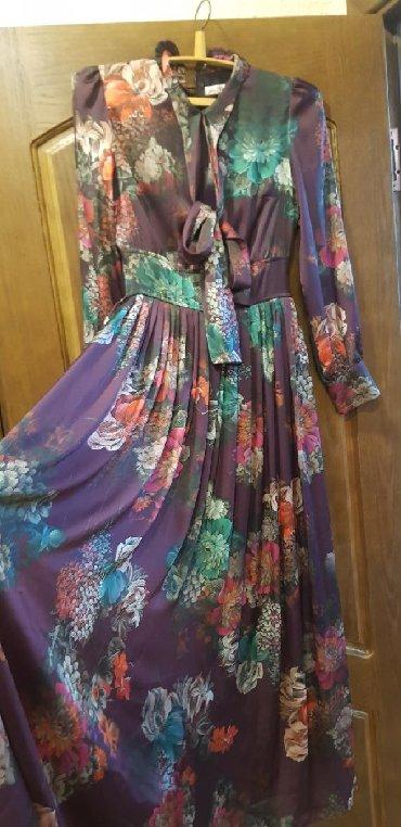 длинные платья из турции в Кыргызстан: Продаю платья Цветное длинное размер 44 одето 1 раз Турция цена