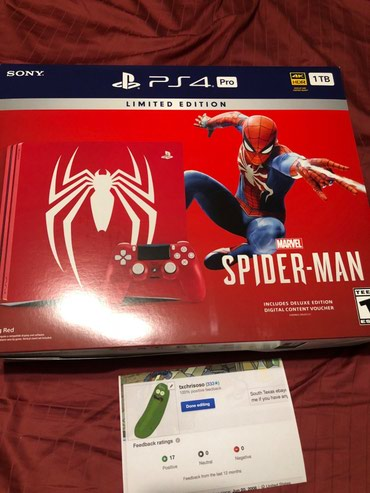 New PS4 PlayStation 4 Pro 1TB Marvel's Spider-Man Limited Edition σε Μακεδονία