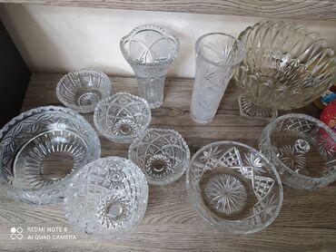 прозрачный шифер цена бишкек в Кыргызстан: Хрустальные вазы,салатницы,маслёнка, и под хрусталь, пивные