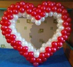 Сердце из шаров в Бишкек