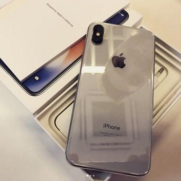 Apple iPhone X - 256GB - серебристый (AT & T) A1901 (GSM) в Бишкек
