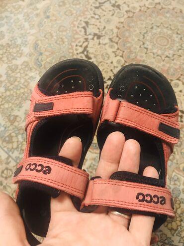 детские босоножки с закрытой пяткой в Азербайджан: Фирма ecco кожаные босоножки размер 30
