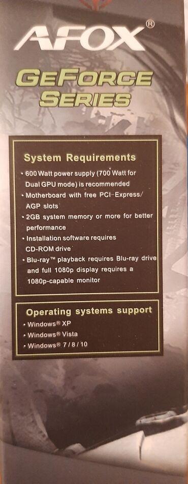 карты памяти strontium для навигатора в Кыргызстан: Продаю видеокарту afox geforce g210 1gb*pci-e 2.0*hd video*energy