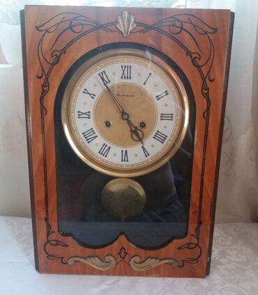Антикварные часы в Кыргызстан: Часы Янтарь советского производства . Настенныемеханические . Не в