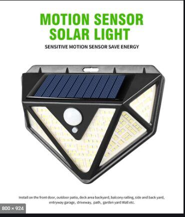 Фонарь уличного освещения с датчиком движения и солнечной батареей