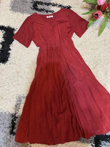 Платье. Бордового цвета. Очень легкая и удобная. Размер стандарт. Плат