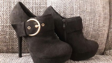 Stikla - Srbija: Cipele 38, gaziste 24cm, stikla 13,5cm novo