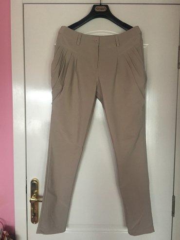 Italijanske pantalone sa elastinom, krem i crne - Beograd