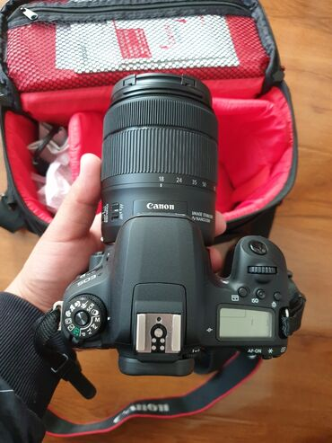 professionalnyi fotoapparat в Кыргызстан: Canon 77d kit 18-135mm nano usm.Состояние новый. Пробег меньше