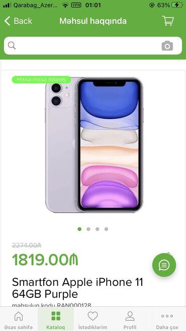 apple 6 - Azərbaycan: Yeni IPhone 11 64 GB Çəhrayı