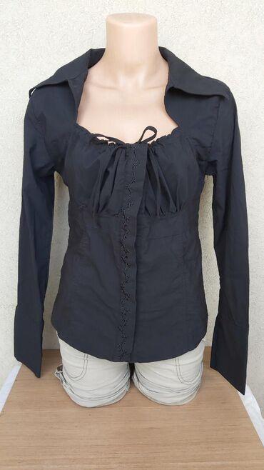 Košulje i bluze | Pozarevac: Crna kosulja vel. 44  Duzina 55cm Grudi 43cm Ramena 33cm Rukavi 59cm