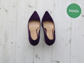 Замшевые туфли женские на каблуке,р.37 Длина подошвы: 20 см Каблук: 9