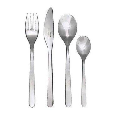 Набор из 16 столовых приборов (4 вилки, 4 ножа, 4 столовых ложек, 4 ча в Лебединовка