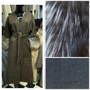 Пальто - Состояние: Новый - Бишкек: Реальным клиентом скидка!!! Натуральный мех чернобурка!!! Размер
