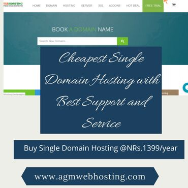 Cheapest Single Domain Hosting with Best Support and Service:Nepal's