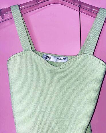 Ženske majice | Srbija: Zara top boja limeta, velicina S  top je kupljen i nije nosen sadrzi l