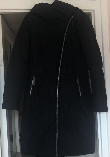 Женская одежда - Бишкек: X,XS Минимализм Теплая очень Большой капюшон  Фабричный Пекин