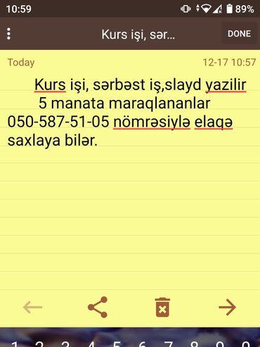 kurs - Azərbaycan: Slayd,serbest iş,kurs işi yazilir. 5 manatİngilis dilinde de kurs