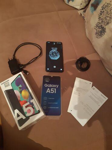 8 elan   SAMSUNG: Samsung A51   64 GB   Qara   Sensor, Barmaq izi, İki sim kartlı