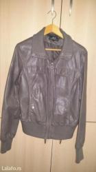 Zenska jakna, eko koza, velicina l, siva - Kraljevo