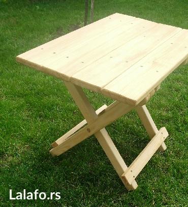 Stolice i stolcic na rasklapanje,izradjene  od kvalitetnog drveta. Moz - Nis