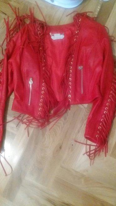 Jakna kozna crvena - Srbija: VELIKA AKCIJA DO KRAJA NEDELJE 18000 crvena kozna jakna roberta biagi