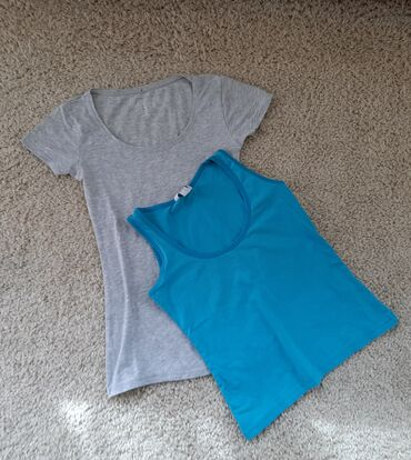 Atmosphere plavi peplum kombinezon kratak - Srbija: Dve majice po jednoj ceni   Siva pamucna majica sa elastinom i plava n