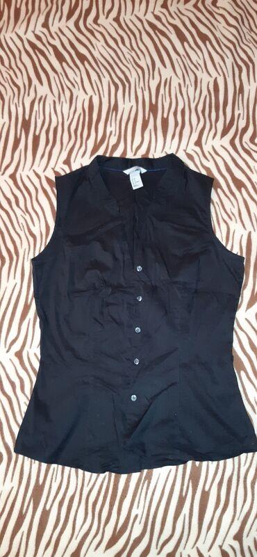 Рубашка без рукавов, новая, от НМ, качество хорошее, стречовый х/б