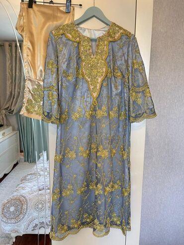 Платье для никах,саламов, приданного Одевала 1 раз Ручная работа  Ткан