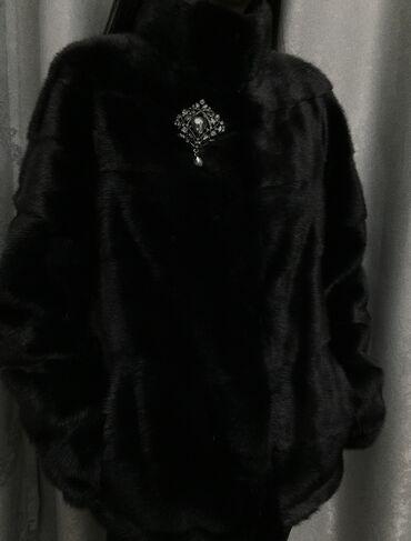 Роскошная норковая шуба в цвете чёрный бриллиант, была куплена в декаб