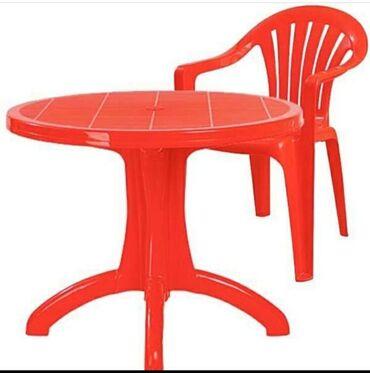 Комплекты столов и стульев в Кыргызстан: Качественные пластиковые столы и стулья Производство Турция