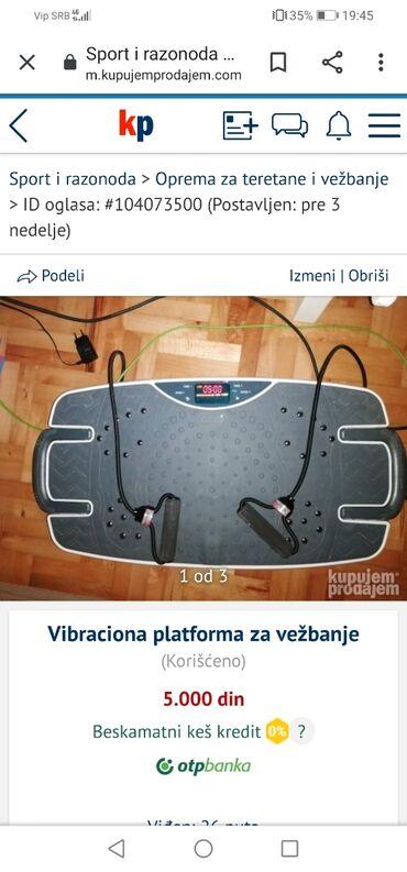 Sport i hobi - Zrenjanin: Vibraciona platforma, jako kratko korišćena. Ispravna u potpunosti, be