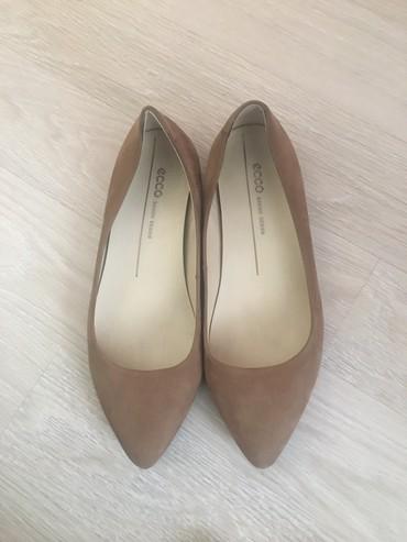 туфли-новые в Кыргызстан: Продаю остроносые балетки ECCO, размер 6-6,5 европейский 37 (маломерят