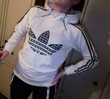 Velic da - Srbija: Adidas duks,velicina 38,on je kao nov ali na trecoj slici se vidi da