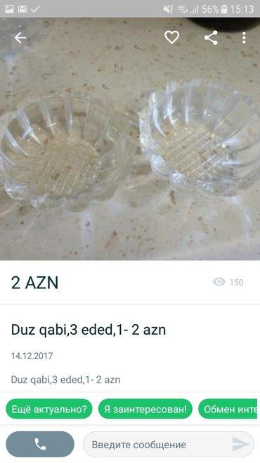 Bakı şəhərində duz qabilar