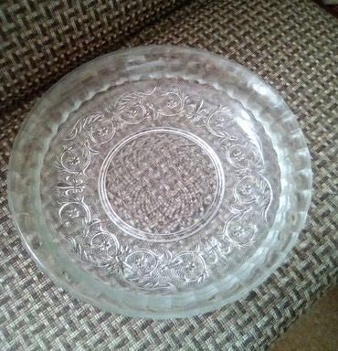 Блюдо из прочного стекла с рисунком, диаметр 30 см в Бишкек