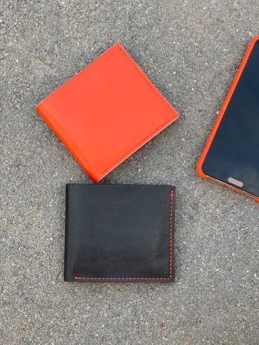 чёрная-сумка в Кыргызстан: Кожаные портмоне, ручной работы.   - 1 отдел под купюры - 4 отдела под