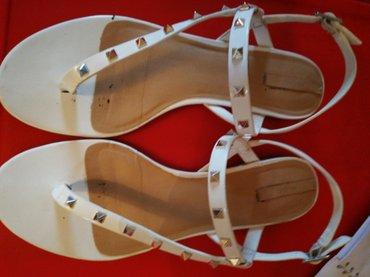 Prelepe bele ravne aldo sandale za svaki dan... savrseno ocuvane! - Nis