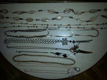 Ide-uz-nju - Srbija: Akcija-fine duze braon i zlatkaste ogrlice .made in Italy /poklon uz