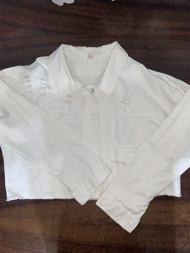 Кроп - Курточка ( можно носить как рубашку) . Размер S. Цена 300