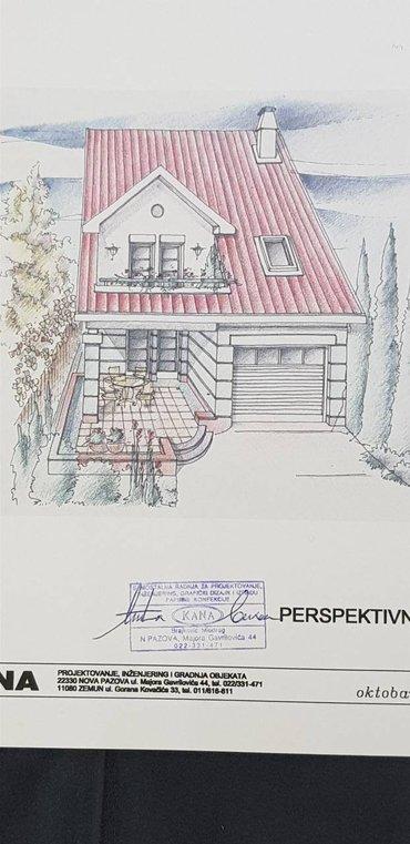 Prodajem projekat za kuću, prizemlje, sprat i potkrovlje (netto - Beograd
