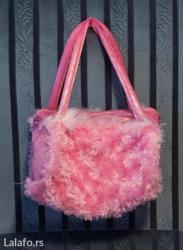 Prelepa ciklama torbica, kao nova, visina 30 cm,sirina 20 cm. - Belgrade