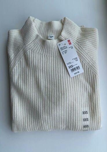 Личные вещи - Селекционное: Тонкий свитер Uniqlo Америка. Размер XXS, большемерят качество высшее