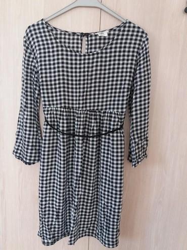 Φορεμα ths medium, αναλαφρο καρο ασπρομαυρο με ζωνακι. σε Athens